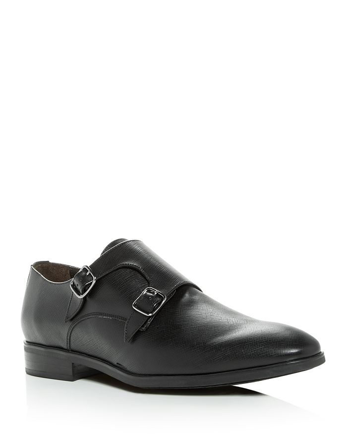 To Boot New York - Men's Benjamin Leather Monk Strap Oxfords
