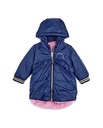 12219650 Little Marc Jacobs Girls' Reversible Faux-Fur Puffer Coat ...