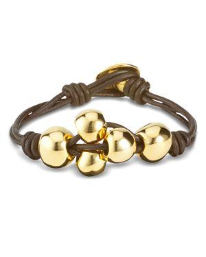 UNO DE 50 Uno De 50 Ball By Ball Bracelet in Brown/Gold