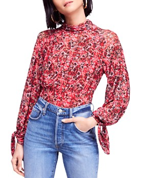 Free People - All Dolled Up Floral Top