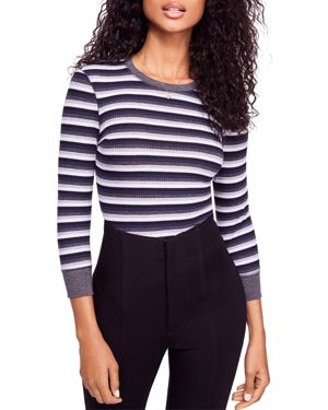 Free People Good on You Striped Thermal Top