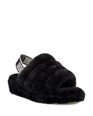 Fluff Yeah Shearling Slingback Slippers