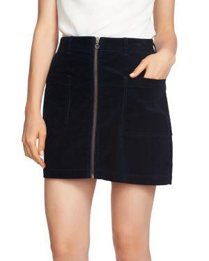 Image of 1.state Corduroy Zip-Front Mini Skirt