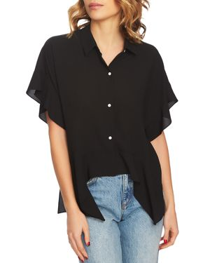 Image of 1.state Button-Down Flutter Top