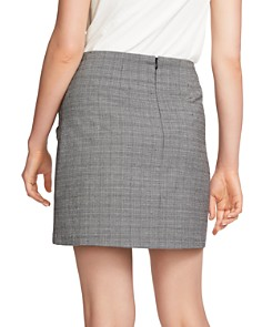 1.STATE - Ruffled Glen Plaid Mini Skirt
