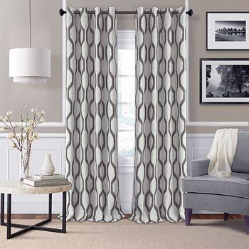 "Elrene Home Fashions - Renzo Blackout Window Panel, 52"" x 95"""