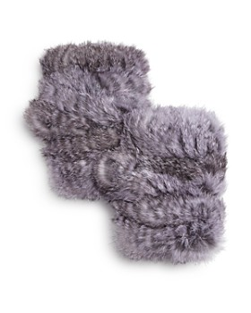 Jocelyn - Knit Rabbit Fur Fingerless Gloves - 100% Exclusive