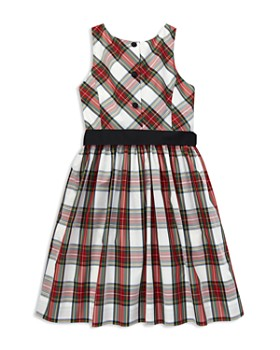 Ralph Lauren - Girls' Taffeta Plaid Dress with Sash - Little Kid
