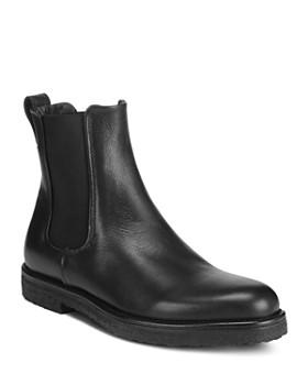 Vince - Women's Cressler Round Toe Leather Chelsea Booties