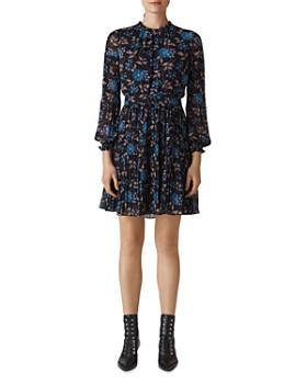 Whistles - Elderberry Dobby Dress