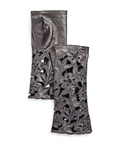 Portolano Embroidered Leather Fingerless Gloves - 100% Exclusive - Bloomingdale's_0