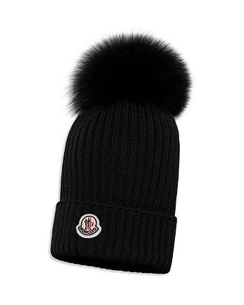 6070096ee Moncler Unisex Ribbed Fur-Pom Hat - Little Kid