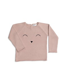 Tun Tun - Girls' Knit Sleepy Face Sweater - Baby