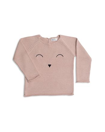 Tun Tun - Girls' Knit Sleepy Face Sweater - Baby