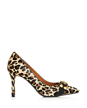 COACH - Women's Waverly Leopard Print Calf Hair Pointed Toe Pumps