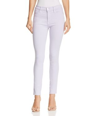 Le High Skinny Raw-Edge Jeans In Lavender in Purple