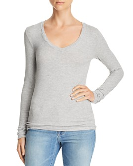 Splendid - Valley Long-Sleeve V-Neck Tee
