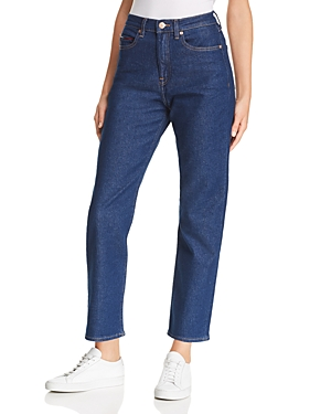 Tommy Jeans High-Rise Straight-Leg Jeans in Tommy Classic Rinse