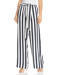 FRAME - Easy Striped Silk Wide-Leg Pants