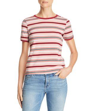 Honey Punch Short-Sleeve Multi-Stripe Tee