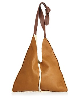 Arron - Small Shearling Shoulder Bag
