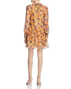 Scotch & Soda - Metallic Floral-Print Dress