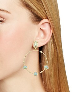 Kendra Scott - Sheila Faceted Frontal Hoop Earrings - 100% Exclusive