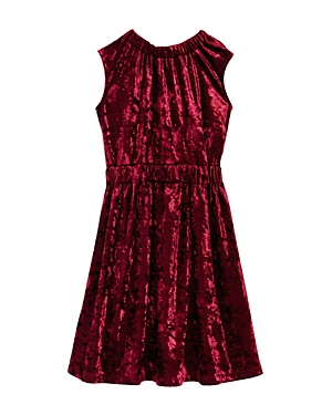 Habitual Girls' Crushed Velvet Dress - Little Kid