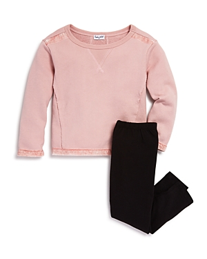 Splendid Girls VelvetTrimmed Terry Sweatshirt  Leggings Set  Little Kid
