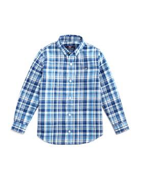 Vineyard Vines - Boys' Cotton Flannel Whale Shirt - Little Kid, Big Kid
