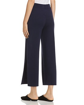 Eileen Fisher - Slit Wide-Leg Crop Pants - 100% Exclusive