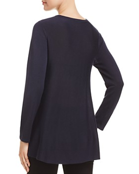 Eileen Fisher Petites - Crewneck Tunic Top - 100% Exclusive