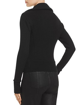 Elie Tahari - Evita Leather Combo Jacket