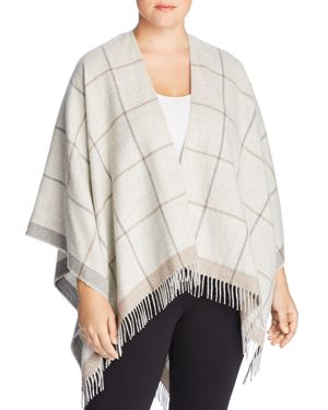 Eileen Fisher Plus Check Print Serape