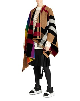 Burberry - Rainbow Vintage Check Poncho