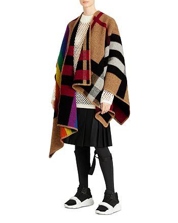 Burberry - Rainbow Vintage Check Poncho