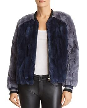 Heartloom - Scout Rabbit Fur Bomber Jacket