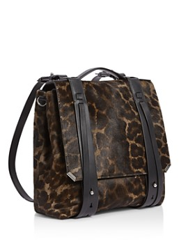 ALLSAINTS - Vincent Medium Leopard-Print Calf Hair Backpack