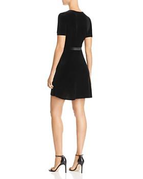 AQUA - Velvet Faux-Wrap Dress - 100% Exclusive