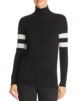 C by Bloomingdale's - Varsity Cashmere Turtleneck Sweater - 100% Exclusive