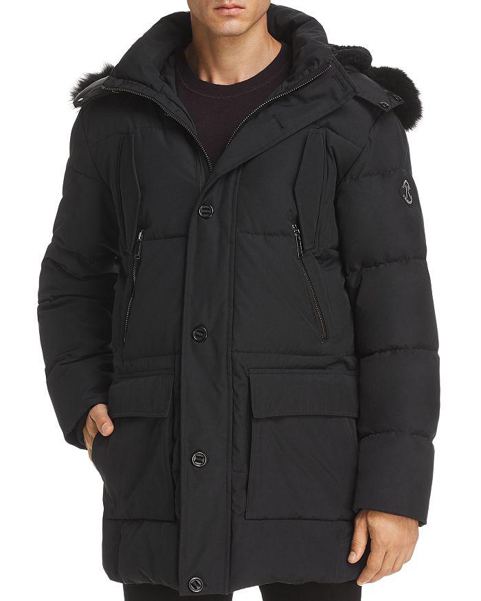KARL LAGERFELD Paris - Faux Fur-Trimmed Puffer Coat