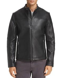 KARL LAGERFELD Paris - Bonded Leather Racer Jacket