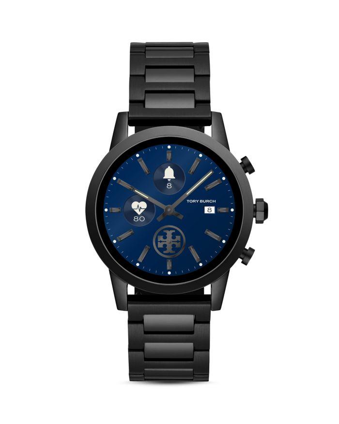 Tory Burch The Gigi Black Touchscreen Smartwatch, 40mm    Bloomingdale's
