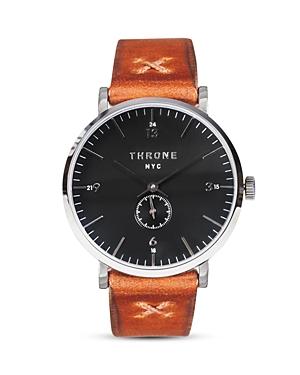 Throne Silver 1.0 Maple Italian Band Watch, 36mm