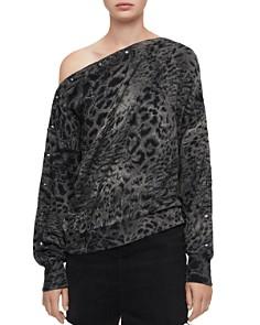 ALLSAINTS - Kaarlo Paw Leopard Print Sweatshirt