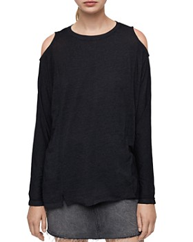 ALLSAINTS - Aino Cold-Shoulder Tee