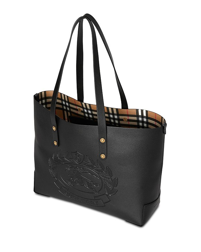 16a96e53761f Burberry - Small Embossed Crest Leather Tote