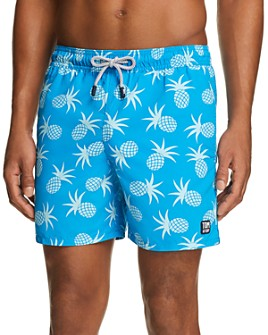 TOM & TEDDY - Pineapple-Print Swim Trunks