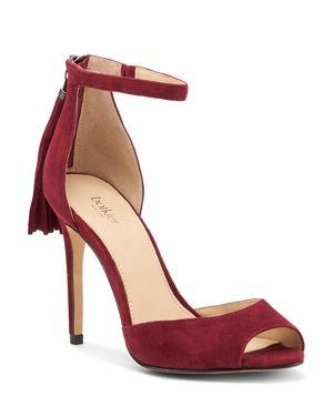 Women'S Anna Suede Ankle Strap High-Heel Sandals, Bordeaux Suede