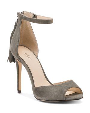 Women'S Anna Suede Ankle Strap High-Heel Sandals, Winter Grey Suede